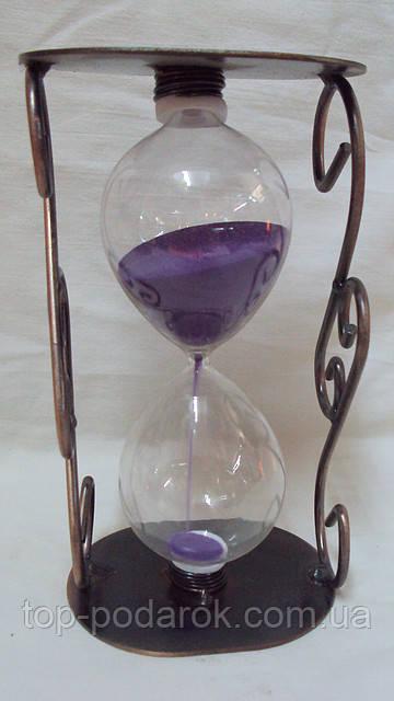Песочные часы металлические размер 16*9