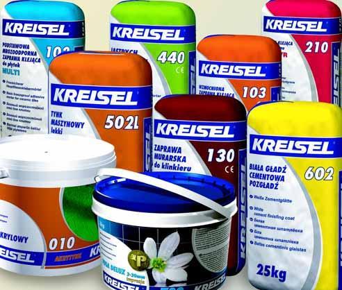 """Сухие смеси, декоративные штукатурки """"KRAISEL"""""""