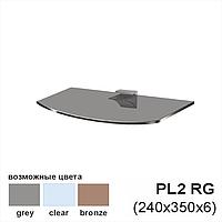 Полка из стекла Gamma PL2 RG (240x350x6), серая