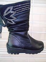 Зимние черные сапоги на девочку, фото 1