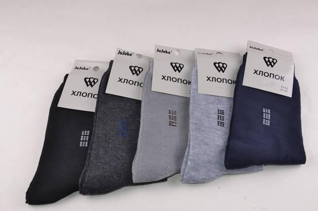 Мужские носки однотонные с рисунком (F516-5)   12 пар, фото 2