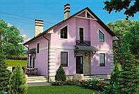 Строительство дома из сип панелей 137,21м.кв. «САНДРА»