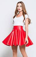 Женская юбка из экокожи