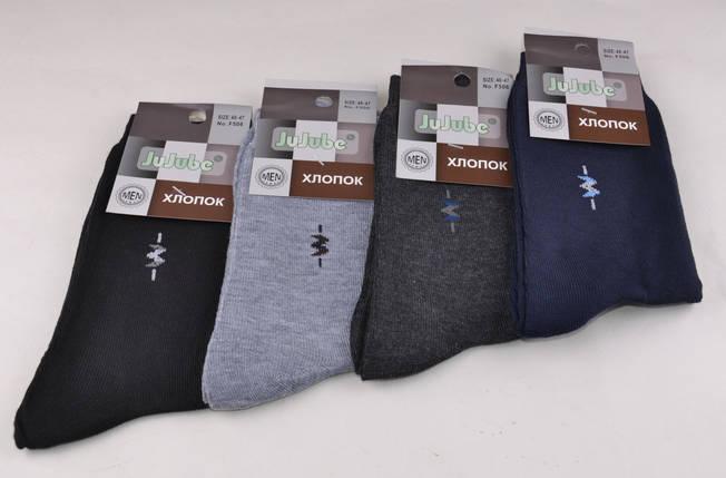Мужские носки однотонные с рисунком (Aрт. F506-17), фото 2