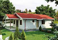 Строительство дома из сип панелей 109,53м.кв., «ЭМИЛИ»