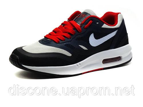 Кроссовки унисекс Найк Air Max, синие с белым и красным