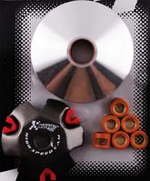 Вариатор передний (тюнинг) 4T GY6 50 (Ø89mm, медно-графитовая втулка, ролики 8г латунь) KOSO