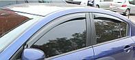 Ветровики на окна тонкие (тониров.) EGR MAZDA 3 SDN 2008+ #