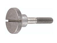 Винт DIN 465 с накаткой и прямым шлицем, оц, нержавеющий А2, А4