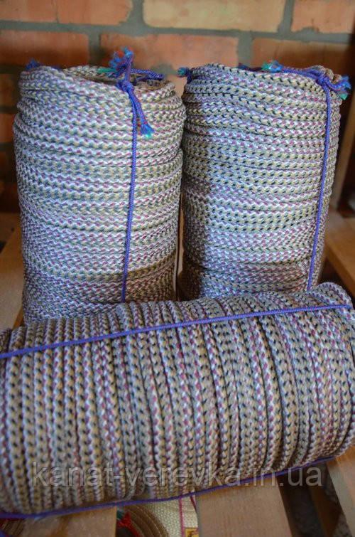 Вязаный 14 мм полипропиленовый шнур, веревка (дарнычанка)