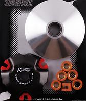 Вариатор передний (тюнинг) 4T GY6 50 спорт (Ø103mm, медно-графитовая втулка, ролики 12г) KOSO