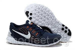 Мужские кроссовки Nike Free 5.0 Flash Navy/White/Orange