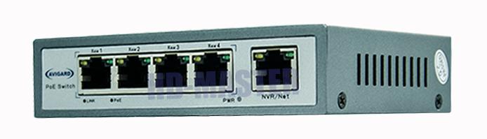 5-портовый коммутатор c POE Avigard AVG SP504