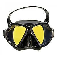 Маска BS Divers Mirola чёрный силикон двустёкольная тонированная