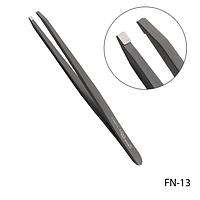Пинцет для бровей FN-13 с прямыми кромками (черный),