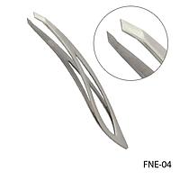 Пинцет для бровей FNE-04 скошенный, фигурный,