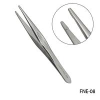Пинцет для бровей FNE-08 профессиональный с прямыми, острыми рабочими кромками,