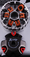 Вариатор передний (тюнинг) Honda DIO AF18 (медно-графитовая втулка, ролики латунь) KOSO