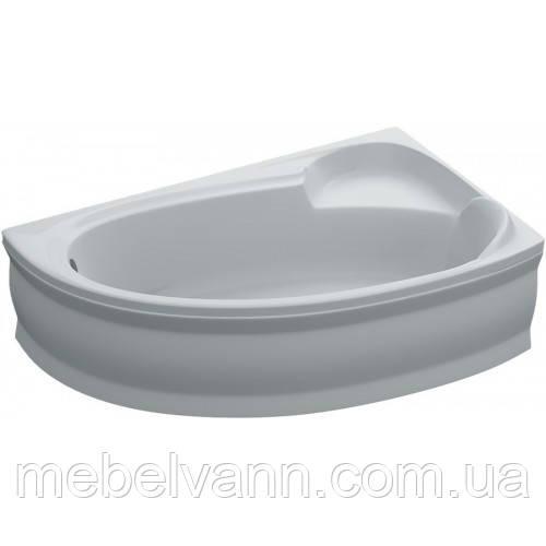 Ванна акриловая асимметричная Bianca правая 155х95х39 с панелью