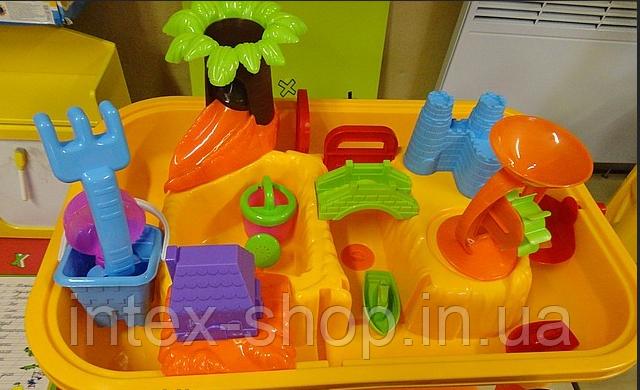 """Детская песочница-столик """"Городок с мельницей"""" M0833"""