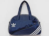 Сумка текстильная спорт ADIDAS синий с белым, фото 1