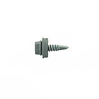Саморез для профлиста Impax 4,8х19 с шайбой EPDM, RAL 7040 сверл.(1,5-3,5 мм), упак.-250 шт, ESSVE (Швеция), фото 1