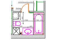 План расположения сантехники