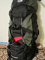 Рюкзак туристический The North Face Extreme 80 л зеленый A49#