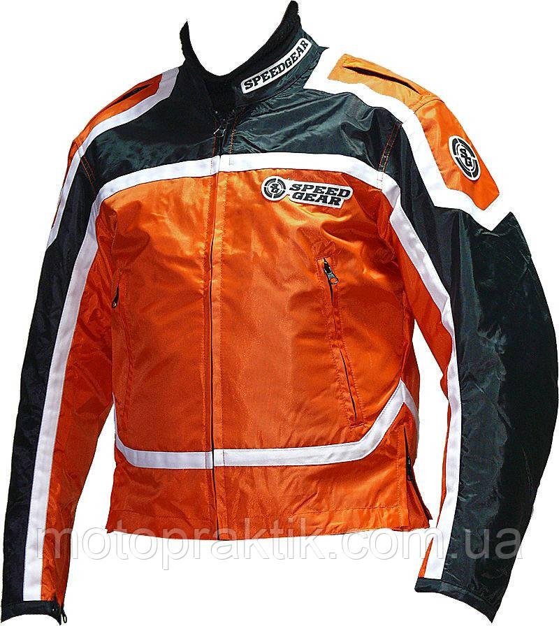 Speed Gear Помаранчево-чорна, S Мотокуртка текстильна