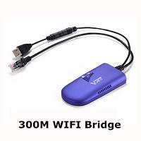 WiFi мост/WiFi передатчик/WiFi ретранслятор с дальностью передачи сигнала до 100 метров VONETS VAP11G-300