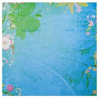 """Набор бумаги для скрапбукинга, 5шт/уп., 30.5*30.5см, """"Письмо цветы синие"""" 952109"""