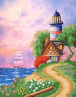 """Рисунок на ткани для вышивания бисером """"Райская гавань"""""""