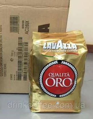 Кофе в зернах Lavazza Qualita Oro, 100% Арабика, Италия, 1 кг