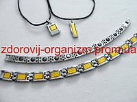 Турмалиновые браслеты с кулонами (муж и жен) набор Вековой Восток