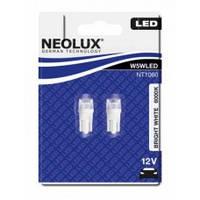 Лампа W5W NEOLUX светодиод (неолюкс)  W5W LED 12V 1W W2,1X9,5D / ХОЛОДНЫЙ БЕЛЫЙ 6000K