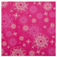 """Набор бумаги для скрапбукинга, 5шт/уп., 30.5*30.5см, """"Цветы-бабочки розовые"""" 952113"""