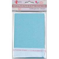 Набор голубых перламутровых заготовок для открыток, 10см*15см, 250г/м2, 5шт. 952244