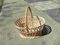 Плетеная корзина из лозы 001