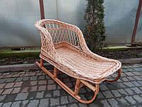 Плетеные санки из лозы 011