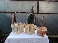 Подарочная плетеная корзинка из лозы 002