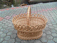 Корзина плетеная из лозы пасхальная