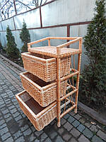 Комод три ящика плетение из лозы