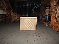 Плетеная бельевая корзина