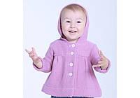 Кофта-пальто для девочки (2 цвета, р.68-86)