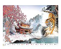 Схема для частичной вышивки бисером Тигр, А3, фото 1