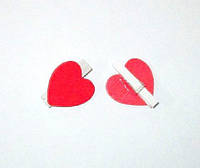 Сердечки на прищепке 2,6 см