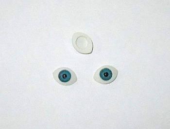 Очі для ляльок блакитні 11/8 мм