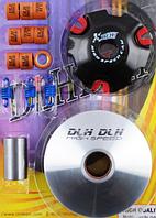 Вариатор передний (тюнинг) Suzuki AD100 (медно-графитовая втулка, ролики латунь) KOSO