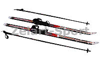 Лыжи беговые в комплекте с палками Zelart SK-1883-110A