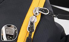 Нагрудна сумка-рюкзак NatureHike чорний-зелений NH23X008-K, фото 2
